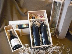 wooden boxes for wine, ideal gifts