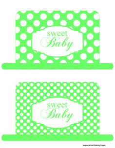 Hats from Baby Green Printable Photo Booth Prop Set
