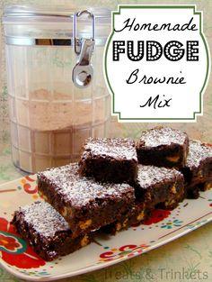 Treats & Trinkets: Homemade Fudge Brownie Mix