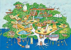 The Treehouse by Andy Griffiths, illustrated by Terry Denton, 239 pp, RL 2 13 Storey Treehouse, Annika Victoria, Maps For Kids, Family Images, Book Week, Weird Art, Chapter Books, Kids Reading, Holiday Activities