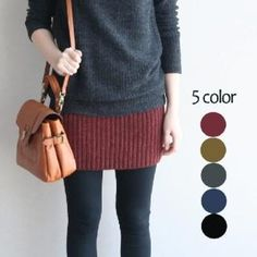 $54.00 ribbed knit skirt