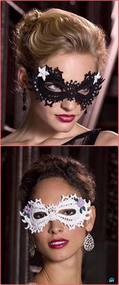 Crochet Mardi Gras Masquerade Fancy Mask Free Pattern - Masquerade Beauty Crochet Eye Mask Free Patterns