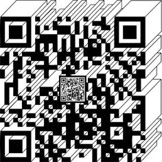 Artists Tom Burtonwood and Holly Holmes have fun by extruding the classic code design with a code-within-a-code concept. Ascii Art, Code Art, Mc Escher, Chalk Pastels, Creative Advertising, Display Design, Qr Codes, Linocut Prints, Art Logo