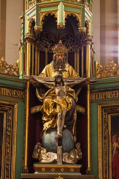 Detail of the high altar in St. Joseph, Speyer by ~SafariBear on deviantART