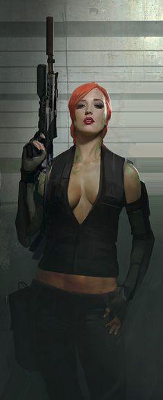 nuare cyberpunk girl