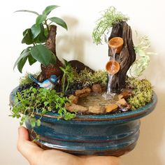 Handmade little resin waterfeatures and bonsai gardens available contact me via mini landscapes on Facebook or mini_landscapes on Instagram. Hawkesbury area nsw.