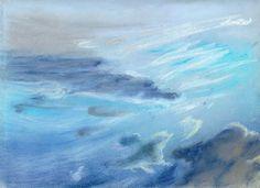 """Scandinavian Sky,""  Pastel, 9x12 in.  Sarah Szabo (2012)"
