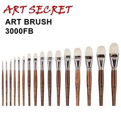 high quality paint art brushes oil painting brush 3000FB Professional interlocked chungking white bristle long oak wood handle #clothing,#shoes,#jewelry,#women,#men,#hats,#watches,#belts,#fashion,#style