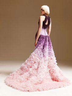 Ombre Wedding Dresses Purple Dress Versace Les