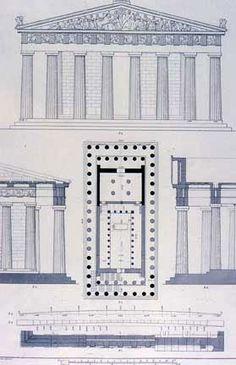 Necesito planos para maqueta del Partenón.