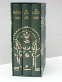 The Lord of the Rings 2nd impression green Gates of Moria rebound set in matching slipcase