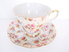 Vintage Lefton Floral Teacup and Saucer set by BelleBloomVintage