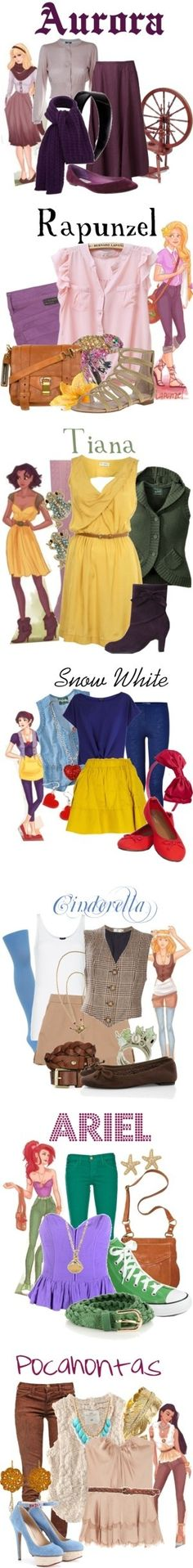 "Liked Aurora's the best-more casual cosplay """"Hipster Disney Princess Collection"" by "" Disney Princess Outfits, Disney Bound Outfits, Disney Inspired Outfits, Themed Outfits, Disney Style, Disney Princesses, Princess Fashion, Casual Disney Outfits, Princess Clothes"