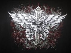 Check out this awesome collection of Biker Skull and Cross wallpapers, with 45 Biker Skull and Cross wallpaper pictures for your desktop, phone or tablet. Biker Tattoos, Leo Tattoos, Tatoos, Cross Background, Leo Tattoo Designs, Cross Wallpaper, Biker T Shirts, Grim Reaper, Dark Art