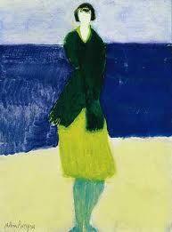 Milton Avery. Blue walker by Sea.