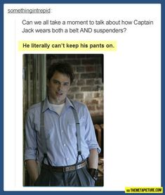 "'Hi, Captain Jack Harness.""  ""Stop it . . ."" HAHAHAHAHA I laughed to hard at this"
