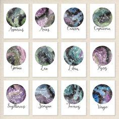 Dierenriem sterrenbeelden sterrenbeeld archivering Art Print