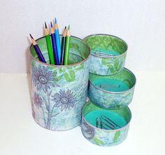 Ideas para reciclar y decorar latas de atun que tenemos en casa | Manualidades