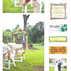 Fall wedding backdrop