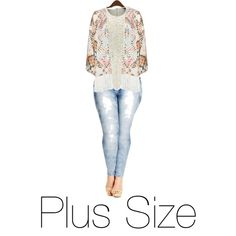 Plus Size by lanvinbeauty on Polyvore featuring Mat and City Chic