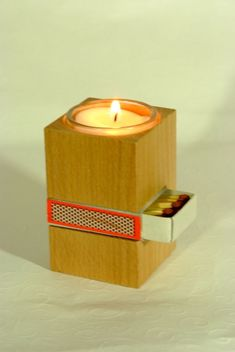 , €9.00 - Diy Wooden Projects, Small Wood Projects, Wood Crafts, Handmade Candle Holders, Tealight Candle Holders, Wooden Art, Wooden Decor, Wood Lamps, Diy Home Crafts