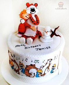 Calvin and Hobbes cake