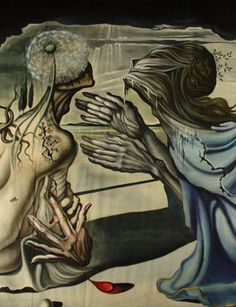 """Dali painted it while collaborating with choreographer Leonide Massine for the ballet """"Mad Tristan""""."""