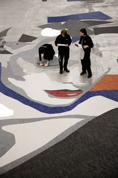 A floor carpet design team