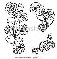 henna flower vectors - Google Search