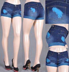 Summer Beach Denim Distressed Hot Short Blue Jean 7 #BeGirl #Denim