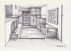 A room 270509 pencil rendering ~ DRAWING AND PAINT