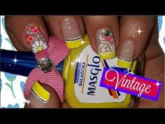 ♥Decoración de uñas vintage♥ - Vintage nail art - YouTube Manicure Y Pedicure, Nail Art, Candy, Nails, Youtube, Food, Finger Nails, Valentines Day Weddings, Red Nail