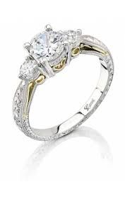 This three stone platinum engagement ring features a beautifully engraved shank and hand-made yellow gold filigree. Total weight of side diamonds is (not including center stone). Stand ring created for a center stone. Platinum Engagement Rings, Engagement Ring Settings, Thing 1, Custom Jewelry Design, Three Stone Rings, Halo Diamond, Wedding Ring Bands, Wedding Ideas, Wedding Table