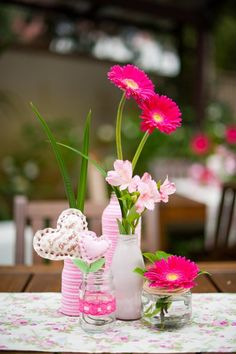 Pretty decorations at a garden birthday party!  See more party ideas at CatchMyParty.com!