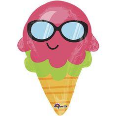 18 Inch Fun In The Sun Ice Cream Foil Balloon 18 inch