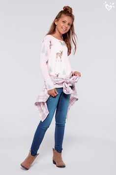 Soft and cozy tops with cute critters are our new favorite cold day go-to!