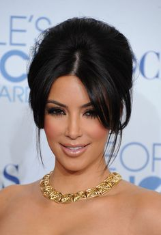 kim kardashian hair up