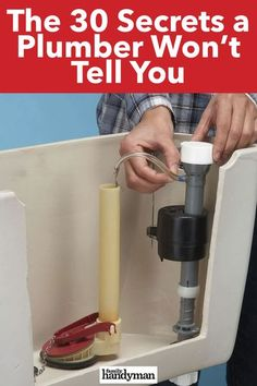 The 30 Secrets a Plumber Won't Tell You Deep Cleaning Tips, Cleaning Hacks, Bathroom Renovations, Bathrooms, Clogged Pipes, Coffee Gif, Wood Repair, Home Fix, Diy Home Repair