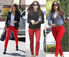 How To Wear: Red Jeans.