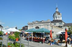 The downtown Kingston waterfront - farmers' market  Pinned by TurnipseedTravel.com