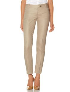 Linen Pencil Pants - Lightweight linen has a classic summer look and feel! Our Pencil Pants have a low-waist fit like a Drew; a sleek ankle length pant that's straight through the hip and thigh.