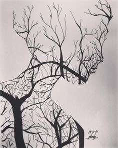 the art of living is to change the leaves without losing the roots. - the art of living is to change the leaves without losing the roots. Unique Drawings, Cool Art Drawings, Pencil Art Drawings, Art Drawings Sketches, Easy Drawings, Art Inspo, Inspiration Art, Art Du Croquis, Drawings Pinterest