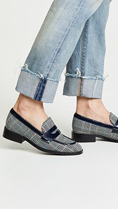 c15c36eb827 Jeffrey Campbell Hornsby Plaid Loafers