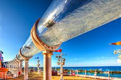 awesome water tube on a big cruise ship Oh The Places You'll Go, Places To Travel, Places To Visit, Cool Water Slides, Disney Cruise Ships, Disney Vacations, Disney Parks, Water Tube, Pool Water