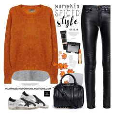 """Pumpkin Spice Style / Isabel Marant Étoile Clifton ochre mohair blend jumper"" by palmtreesandpompoms ❤ liked on Polyvore featuring Golden Goose, Yves Saint Laurent, rag & bone, Étoile Isabel Marant, Lancôme, Alexander Wang, NARS Cosmetics, Sisley and pss"
