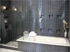 separate bath and shower in small bathroom - Google Search