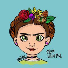 Villa, Frida Khalo, Digital Illustration, Illustrations, Fork, Villas