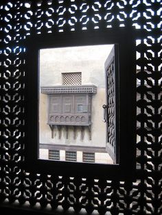 Mashrabiya window seen through another one El  Cairo