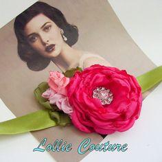 Corsage Flower Corsage Fabric Flower Corsage by lolliecouture, $28.00