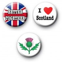 Set of 3 Scottish Referendum Badges
